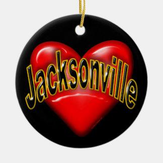 I Love Jacksonville Christmas Ornaments