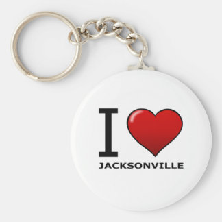 I LOVE JACKSONVILLE,FL - FLORIDA BASIC ROUND BUTTON KEY RING