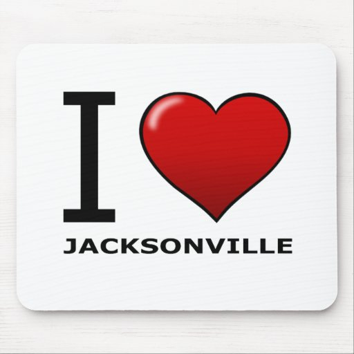 I LOVE JACKSONVILLE,FL - FLORIDA MOUSE PAD