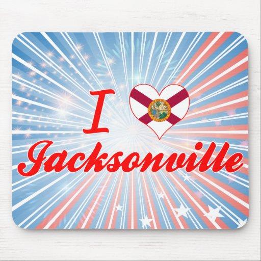 I Love Jacksonville, Florida Mousepad