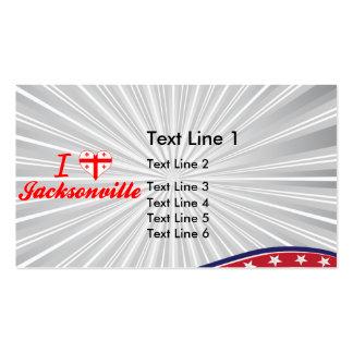 I Love Jacksonville, Georgia Business Card Template