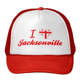 I Love Jacksonville, Georgia Mesh Hats