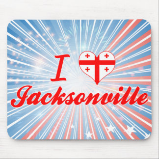 I Love Jacksonville, Georgia Mouse Pads