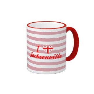I Love Jacksonville, Georgia Coffee Mugs