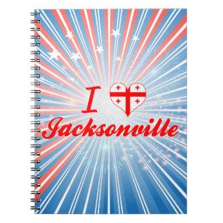 I Love Jacksonville, Georgia Notebooks