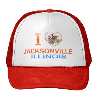 I Love Jacksonville, IL Trucker Hats