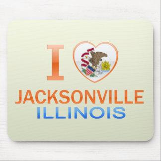 I Love Jacksonville IL Mousepad