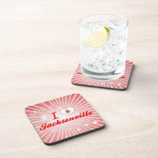 I Love Jacksonville, Illinois Beverage Coasters