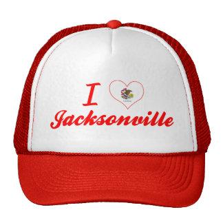 I Love Jacksonville, Illinois Trucker Hats