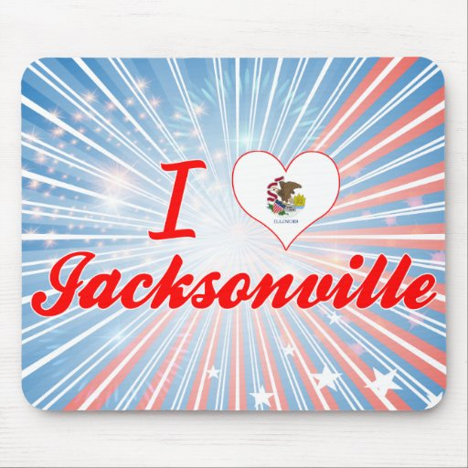 I Love Jacksonville, Illinois Mousepad