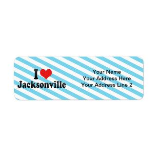 I Love Jacksonville Return Address Label