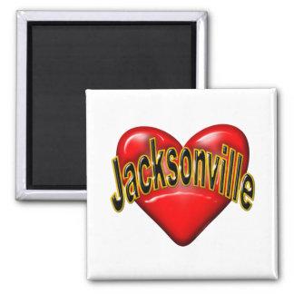 I Love Jacksonville Fridge Magnet