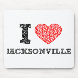 I Love Jacksonville Mouse Pads
