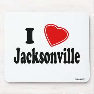 I Love Jacksonville Mousepads