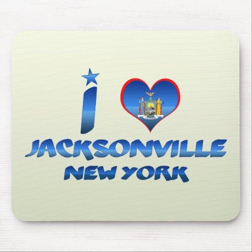 I love Jacksonville, New York Mousepads