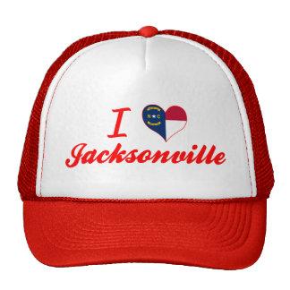 I Love Jacksonville, North Carolina Mesh Hat