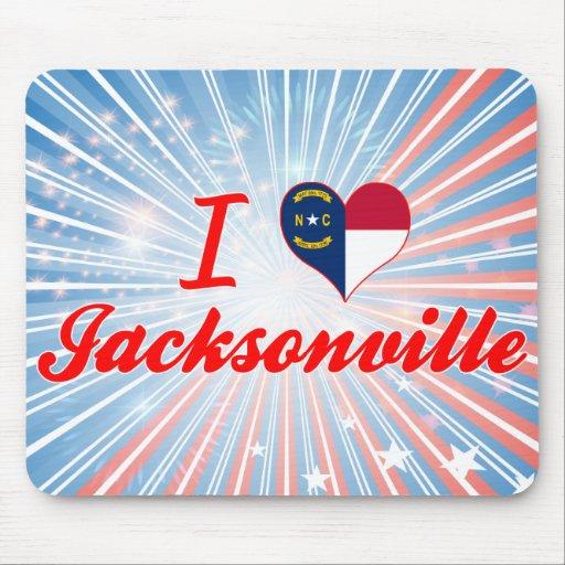 I Love Jacksonville, North Carolina Mouse Pad