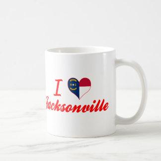 I Love Jacksonville, North Carolina Mugs