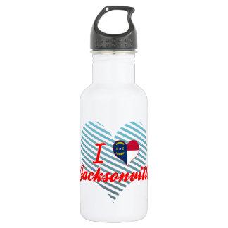 I Love Jacksonville, North Carolina 18oz Water Bottle