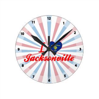 I Love Jacksonville Oregon Round Clocks