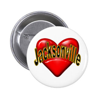 I Love Jacksonville Pinback Buttons