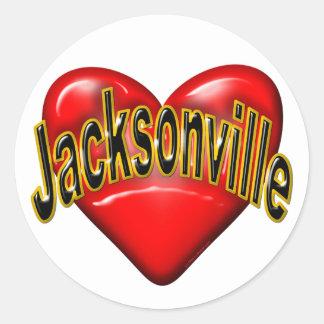 I Love Jacksonville Round Sticker