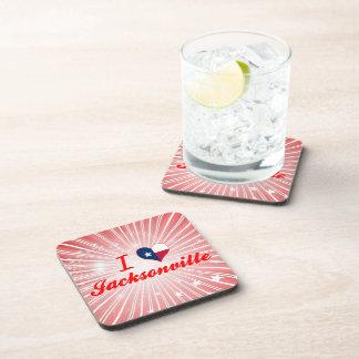 I Love Jacksonville, Texas Drink Coasters