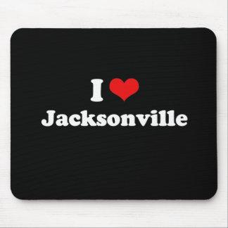 I Love Jacksonville Tshirt White Tshirt Mouse Pad