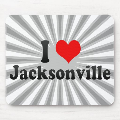 I Love Jacksonville, United States Mouse Pads