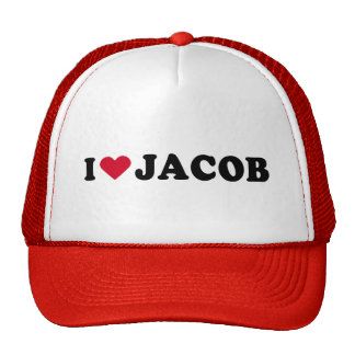 I LOVE JACOB TRUCKER HAT