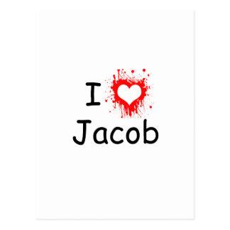 I love Jacob Postcard