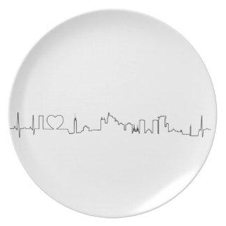 I love Jakarta (ecg style) souvenir Plate