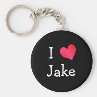 I Love Jake Key Ring