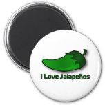I Love Jalapenos 6 Cm Round Magnet