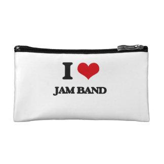 I Love JAM BAND Makeup Bags