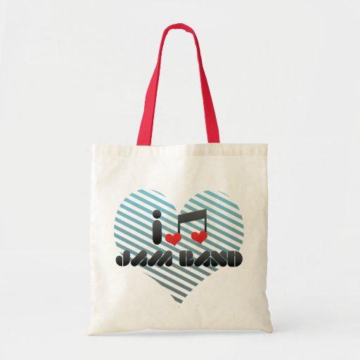 I Love Jam Band Canvas Bag