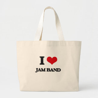 I Love JAM BAND Jumbo Tote Bag