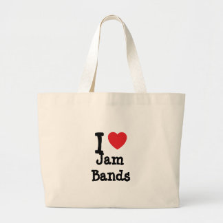I love Jam Bands heart custom personalized Bag