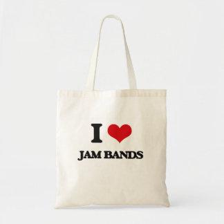 I Love JAM BANDS Budget Tote Bag