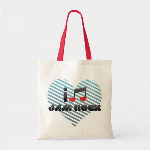 I Love Jam Rock Canvas Bags