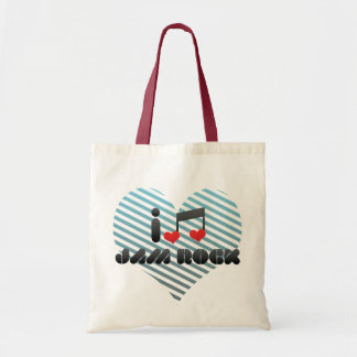 I Love Jam Rock Canvas Bags