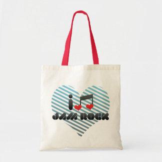 I Love Jam Rock Budget Tote Bag