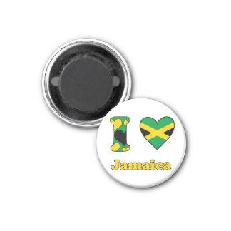 I love Jamaica 3 Cm Round Magnet
