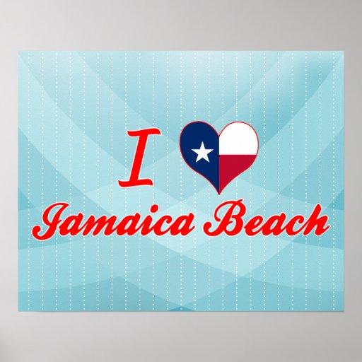 I Love Jamaica Beach, Texas Print