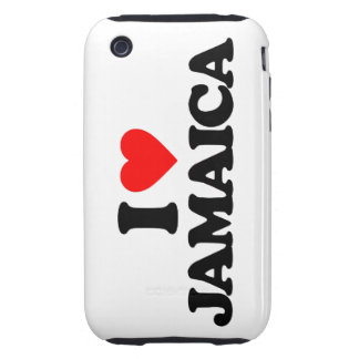I LOVE JAMAICA TOUGH iPhone 3 COVER