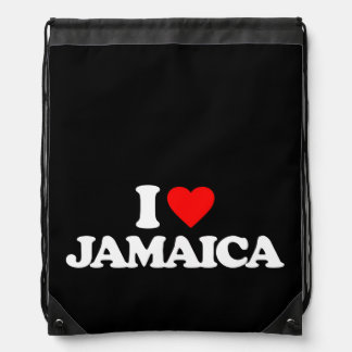I LOVE JAMAICA DRAWSTRING BAG
