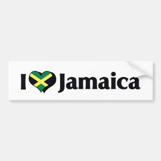 I Love Jamaica Flag Bumper Sticker