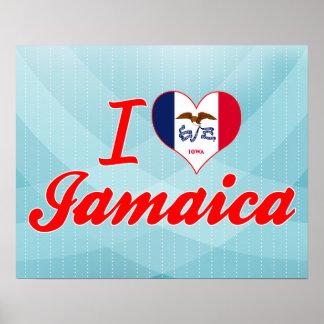 I Love Jamaica Iowa Print