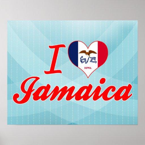 I Love Jamaica, Iowa Print