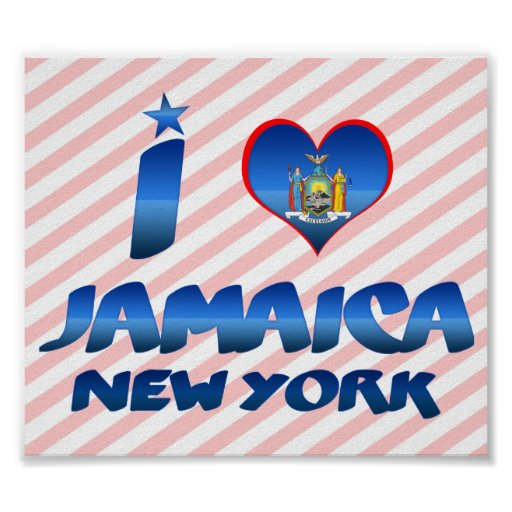 I love Jamaica, New York Posters